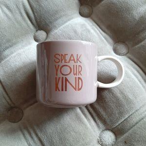 STARBUCKS speak your kind ceramic mug 12oz